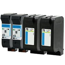 4PKs HP 45 78 Ink Cartridge 51645A C6578DN For Photosmart P1100 1115 1215 1218