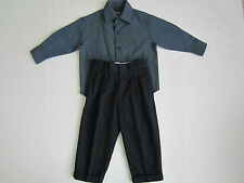 Boy's 2pc Suit 2-3T Kids Shirt & Pants Childs Church Holiday Set Wedding Outfit