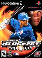MLB SlugFest 20-03 (Sony PlayStation 2, 2002) COMPLTE W/ DISC BOOKLET & CASE