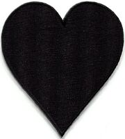 Black heart suit playing cards biker retro poker applique iron-on patch S-657