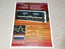 Soundcraftsmen MA 5002 Power Amplifier Ad, 1978, SPecs, Articles, Info