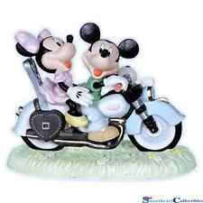 Precious Moments Disney Mickey and Minnie Mouse On Motorcycle 2012