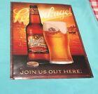 RARE Leinenkugel's Beer Tin Sign Tacker Classic Amber