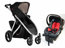Phil & Teds Verve V3 Double Stroller in Black + Alpha Car Seat Travel System!