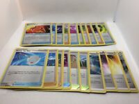 Pokemon TCG Rebel Clash Complete Uncommon Set Item Support Energy 20 Cards