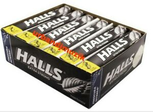 HALLS INTENSE COOL EXTRA STRONG COUGH DROPS - BOX OF 12 PACKS ea -FREE SHIP