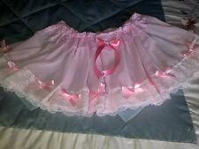* Nouveau Modèle * Pretty FULL CIRCLE Rose Nylon Petticoat Sissy CD TV