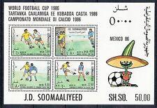 XG-C587 FOOTBALL - Somalia, 1986 Mexico '86 World Cup MNH Sheet
