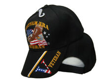 "Vietnam Era Veteran Vet ""V"" War Embroidered Black Baseball Cap Hat"