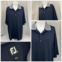 Footjoy Golf Shirt XXL Blue Poly Lycra Polo Short Sleeve NWOT YGI W9-89