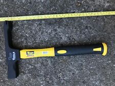 Scutch Hammer 600g, Fiber Glass Handle 35mm Mouth Brick Hammer. Black finished