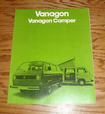 Original 1980 Volkswagen VW Vanagon / Camper Sales Brochure 80