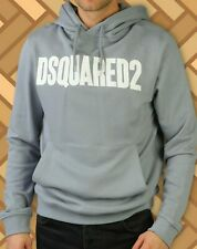 DSQUARED2 Hoodie Sweater Jumper Grey Size S Brand New Men Genuine Italy