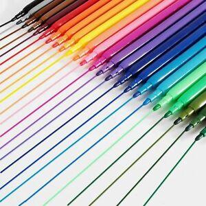 🔥30x Felt Tip Pens Marker Fine Fiber Tip Color Art Craft Colouring Drawing Kids