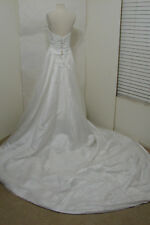 HAUTE COUTURE Maggie Sottero Strapless Crystal Embroidered Corset Wedding Gown S