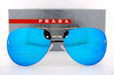 New Prada Sport  Sunglasses PS 50RS ZVN/5M2 Pale Gold/Blue Mirror For Men Women