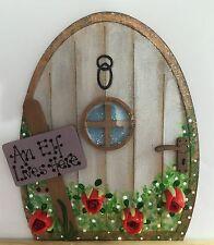 Handpainted Elf Elves Pixie Fairy Door Tooth Fairy Gift Skirting Board Decor