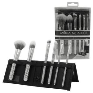 Royal Langnickel Moda Metallics 7 Piece Total Face Flip Kit Silver