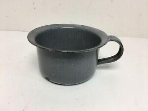 Vintage Gray Graniteware Chamber Pot