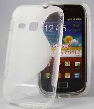 Rubber Case Wave für Samsung S6500 Galaxy Mini 2 II in transparent Silikon Skin