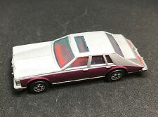 HOT WHEELS CADILLAC SEVILLE Burgundy Silver HONG KONG 1980 VINTAGE ORIGINAL