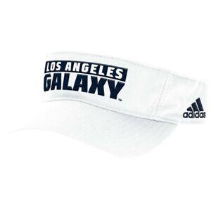 LA Galaxy MLS Adidas Adjustable Visor Hat, White