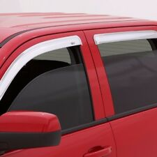 Fits Chevy Avalanche 2007-2013 AVS Chrome Ventvisor Window Visors Rain Guards
