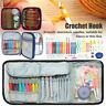 25/64/72Pcs DIY Crochet Hooks Tool Kit Yarn Knitting Sewing Grip Bag Set UK