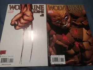 Wolverine Origins 10 and 11 - 1st App. Daken Son of Wolverine 2007 Quesada Cover