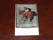 ORIGINAL F.N. MASTERS SIGNED TUCK HORSE RACING POSTCARD - SPORT IMPRESSIONS 9419