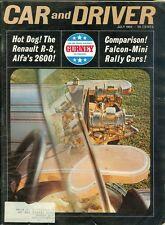 1964 Car & Driver Magazine: Renault R-8 Alfa 2600/Falcon-Mini Rally Cars