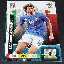 RICCARDO MONTOLIVO ITALIA ITALIE FOOTBALL CARD PANINI UEFA EURO 2012