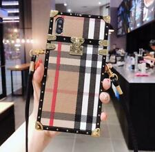 Luxury Metal Corner Square PU Leather Case For iPhone 11 Pro Max XS XR 7 8 Plus