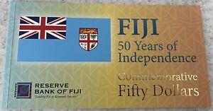 Fiji _ 50 Dollars 2020 UNC in folder Polymer Lemberg-Zp