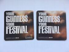 Guinness Your Festival x2 Beer Mats Coasters Sous Bock Bierdeckel
