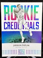 Jayson Tatum 2017-18 Panini Status Rookie Credentials RC #18 Boston Celtics