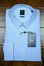 Hugo Boss $295 Tailored Men's Scott Slim Fit Striped Cotton Dress Shirt 39 15.5