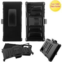 Samsung Galaxy Note 10 /10 Plus Hybrid Shockproof Rugged Clip Holster Case Cover
