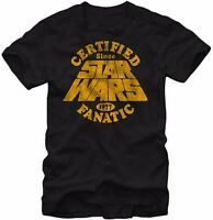 Star Wars Movie Certified Fanatic 1977 Licensed Adult T-Shirt