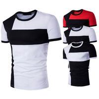 New T-shirt Fashion Casual Sleeve Men's Fit Shirts Tee Tops Stylish Mens Short