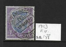 1913 India 5r SG188 Fine Used