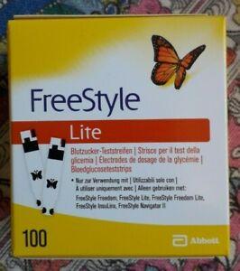 Freestyle Lite 100 Blutzucker Teststreifen MHD 09/2022 Stück Neu OVP