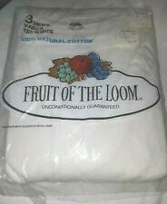 3 pk Mens Vintage Fruit Of The Loom V-Neck Tee Shirts Size Xl 46-48 Usa 1978 New