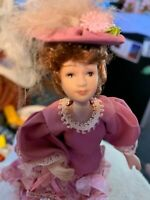 """Gorgeous dollhouse doll and stand porcelain 7 """"  A little Girl Doll  Plus Beauti"""