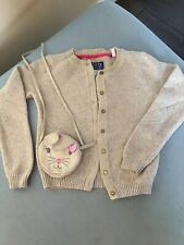 Joules Gold Sparkly Cardigan Age 8 & Rabbit Purse/bag