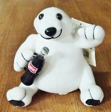 "1993 - Coca-Cola Coke 5.5"" Plush Polar Bear Stuffed Toy Animal - Mint with Tags"