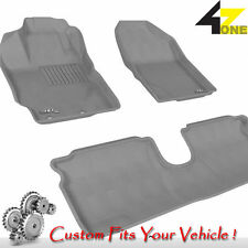 3D Fits 2012-2014 Toyota Yaris G3AC40932 Gray Carpet Front and Rear Car Parts Fo