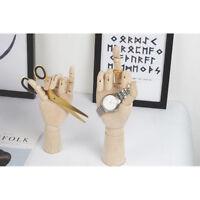 18cm Sketching Drawing Hand Wooden Mannequin Hands Watch Rack Sculpture Toy