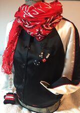 Coach Disney Mickey Med Reversible Varsity Jacket F59550 W Scarf Red F59464 NWT!