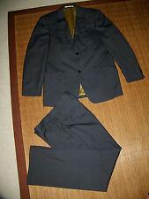 Herrenanzüge aus Polyester mit regular Länge und Nadelstreifen Zwei-Knopf